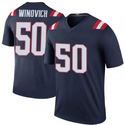 Chase Winovich New England Patriots Youth Color Rush Legend Jersey - Navy