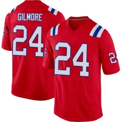Stephon Gilmore New England Patriots Men's Game Alternate Nike Jersey - Red